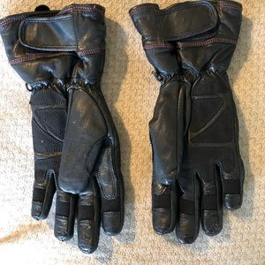 Harley Davidson Black Leather gore-Tex gloves M